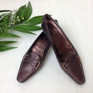 Cole Haan Copper Colored Penny Loafer Pumps